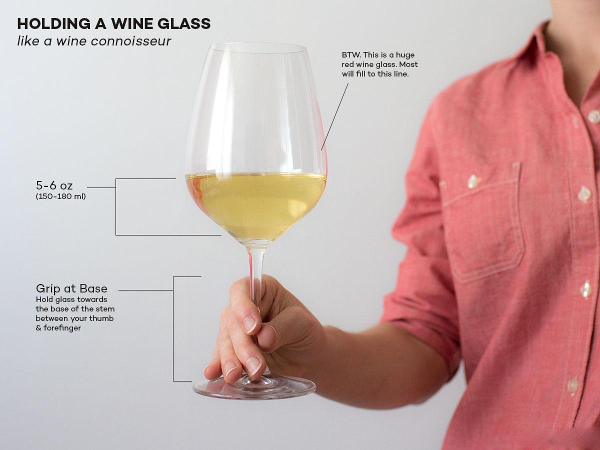 Cách cầm ly rượu vang