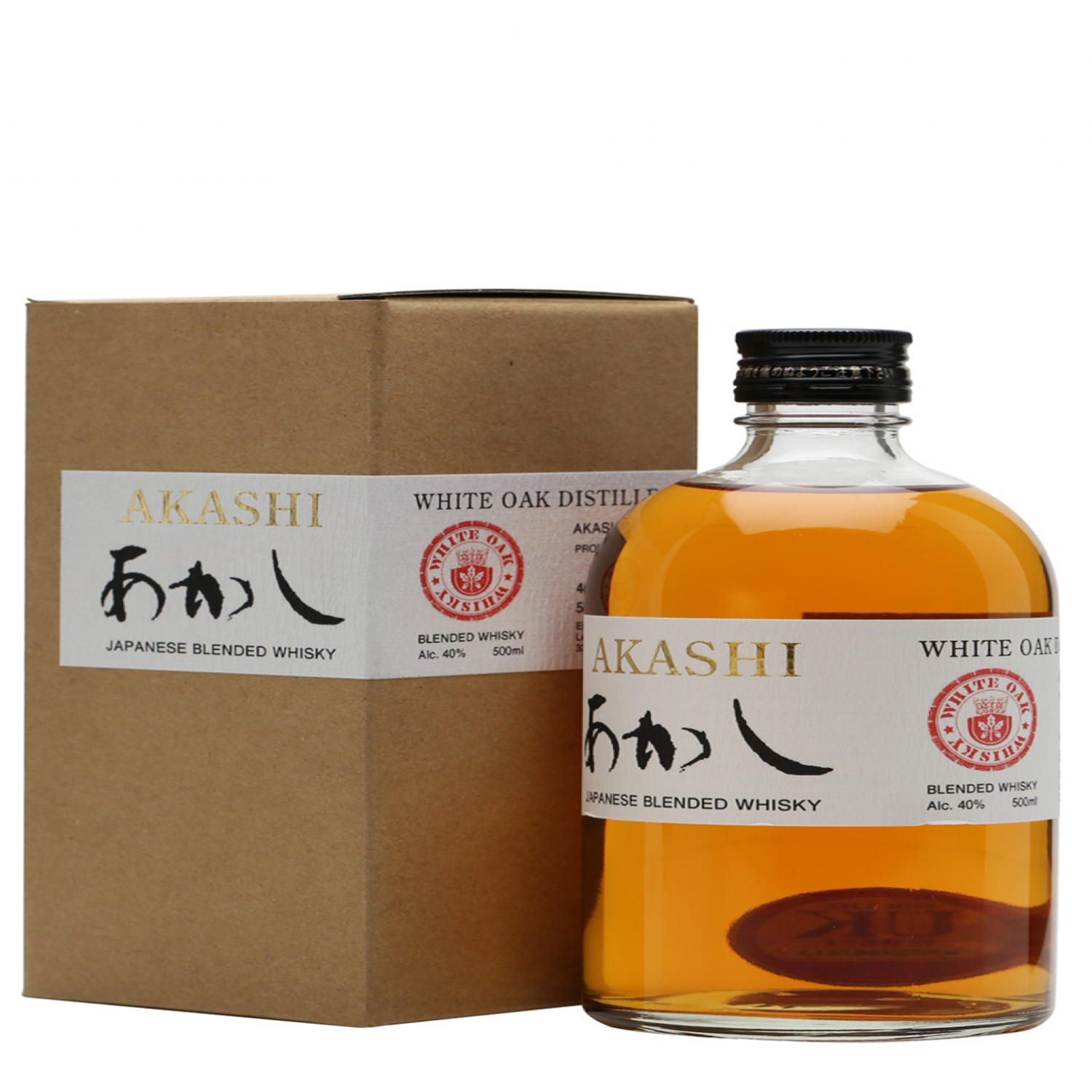 Rượu Akashi White Oak Blended Whisky 40% 500ml